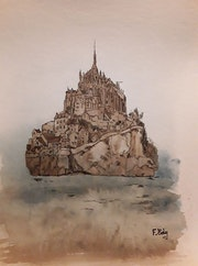 Mont st michel. Fredessin