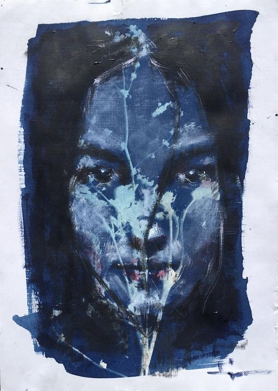 Cyanoportrait #3. Dominique Dève Dominique Dève