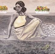 Jeune fille des années 30.