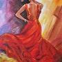 Danseuse andalouse. Roselyne Schwarz