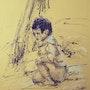L'enfant à côté de l'arbre. Michèle Trotel