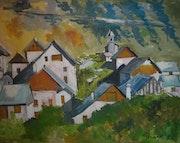 Le hameau de Poingt Ravier à valloire en savoie 1700m.