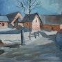 Le hameau de Poingt Ravier sous la neige, valloire (Savoie). Gege