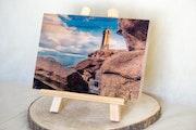 Photo sur bois du phare de ploumanach. Delplanque Loïc