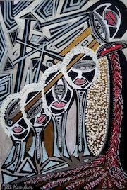 Giras de arte israeli para grupos de pintora expresiva. Mirit Ben-Nun