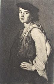 Alphonse-C. Masson : «L'Homme à la manche jaune», d'après Théodule. Ribot.. Historien d'art, Archéologue; Chercheur Free-L.