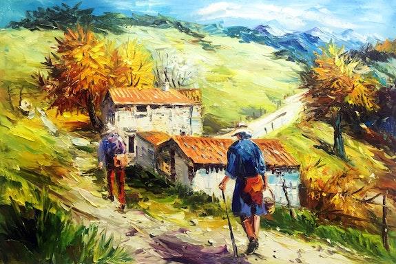 Retour de la cueillette. Gilbert De St Amans Gilbert De St Amans