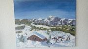 Neige à la montagne. Jean François Guesnon