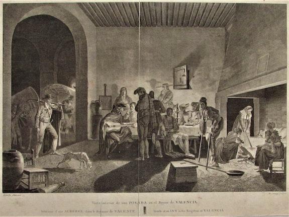 Robert De Launay (1749-1814) :Intérieur d'une auberge dans le royaume de Valence. Robert De Launay (1749-1814) :intérieur d'une Auberge Dans Le Royaume De Valence Historien d'art, Archéologue; Chercheur Free-L.