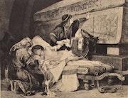 Lionel. Lecouteux (1847-1909), d'après A. Maignan, 1880 : «Chlodebert». Historien d'art, Archéologue; Chercheur Free-L.