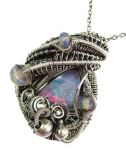 Australian Opal Pendant with Ethiopian Welo Opals. Heather Jordan Jewelry