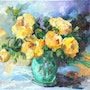 The bouquet of yellow roses. Galerie Arnaud
