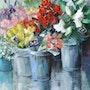 The florist's stall. Galerie Arnaud