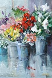 El puesto de floristería. Galerie Arnaud