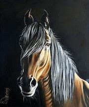 Pferdeporträt «Atilla».