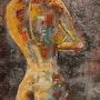 Nu coloré. Patricia Menadier