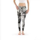 «Entre el cielo y la tierra» Legging de arte - Urban Yoga Collection. Moti