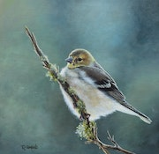 'Flying free', bird oil painting. Reme Gimeno