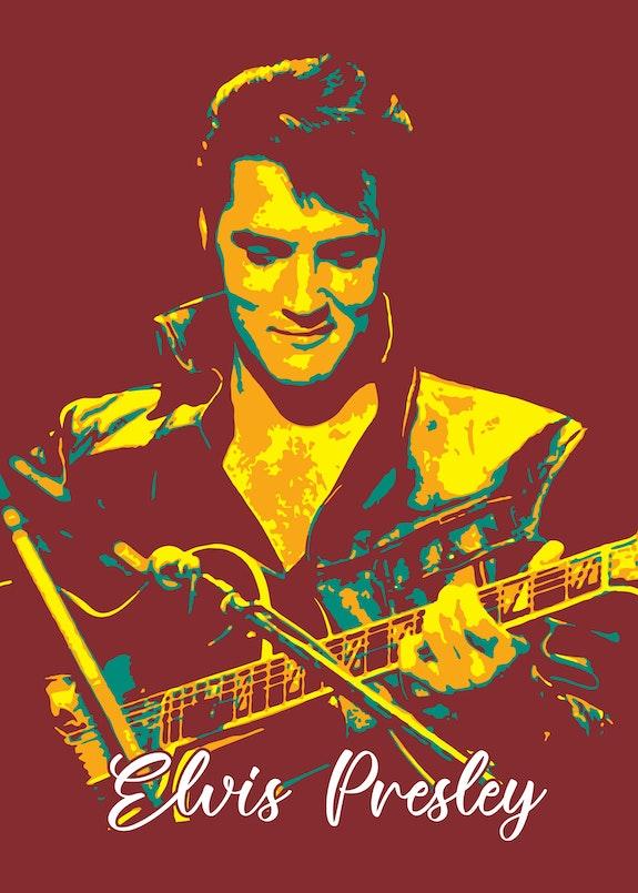 Elvis Presley. Elvis Aaron Presley. The king. King of Rock and Roll. Taurungka Graphic Design Taurungka Graphic Design