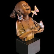 Hope African American Girl Skulptur von Thomas Blackshear. Esculpture