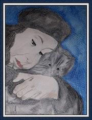 Le chaton. Anne. B