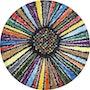 Xl size round shape painting the circle of life. Mila Moroko