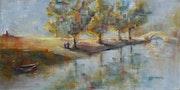 Le long du canal… Au soleil rasant, derniers instant de sérénité..