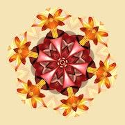 Boule de fleurs kaléidoscopée.