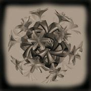 Boule de fleurs sépia.