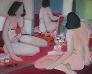 Composition aux trois nus. Lydie Delaigue
