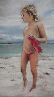 Fillette à la plage. Isabelle Douzamy