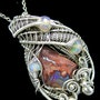 Mexican Cantera Opal Pendant with Ethiopian Welo Opals. Heather Jordan Jewelry
