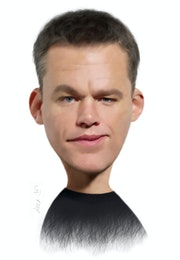 Matt Damon caricature. Alex Hook Krioutchkov