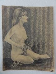 Frau mit Blume. Dietmar