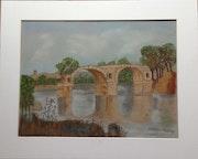 Le pont d'Ambrossum, inspiré de g Courbet. Domy