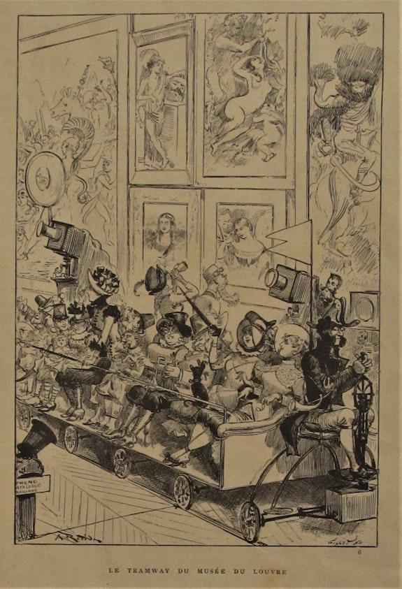 Charles F. Gillot (1853-1903), d'après A. Robida : Le Tramway du musée du Louvre. Charles F. Gillot (1853-1903), d'après A. Robida : Le Tramway Du Musée Du Louvre Historien d'art, Archéologue; Chercheur Free-L.
