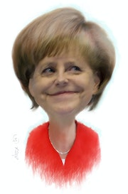 Angela Merkel caricature. Alex Hook Krioutchkov
