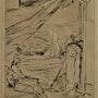 Herbert lespinasse, (1884-1972) : Rêverie près de la mer.. Historien d'art, Archéologue; Chercheur Free-L.