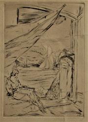 Herbert. Lespinasse, (1884-1972) : Rêverie près de la mer. Vers 1920-25.. Historien d'art, Archéologue; Chercheur Free-L.