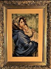 Portrait of Madonna - Religious cross stitch. Anavim Adumim