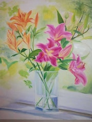 Mother's lily flowers. Susan Gillham