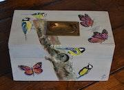 Mésanges et papillons. Jean-Pierre Lemoine