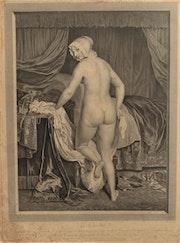 Carlo Antonio Porporati (1741-1816) d'après Jacques Vanloo : Le coucher.. Historien d'art, Archéologue; Chercheur Free-L.