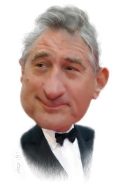 Robert De Niro caricature.