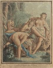 Louis-Marin. Bonnet (1743-1793), d'après François Boucher. Les Grâces au bain.. Historien d'art, Archéologue; Chercheur Free-L.
