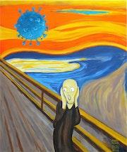 Le cri d'après Edvard Minch. Christian Stalla