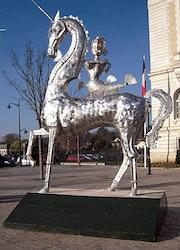 La comedie mythologique, Licorne chevauchée avec la Reine Sirène.