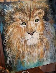 Mirada de león.