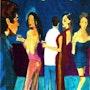 Happy Hour Love and Romance. Weisburd Fine Art