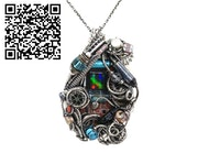 Image Sensor & Spirit Level Cyberpunk/Steampunk Fusion Pendant. Heather Jordan Jewelry